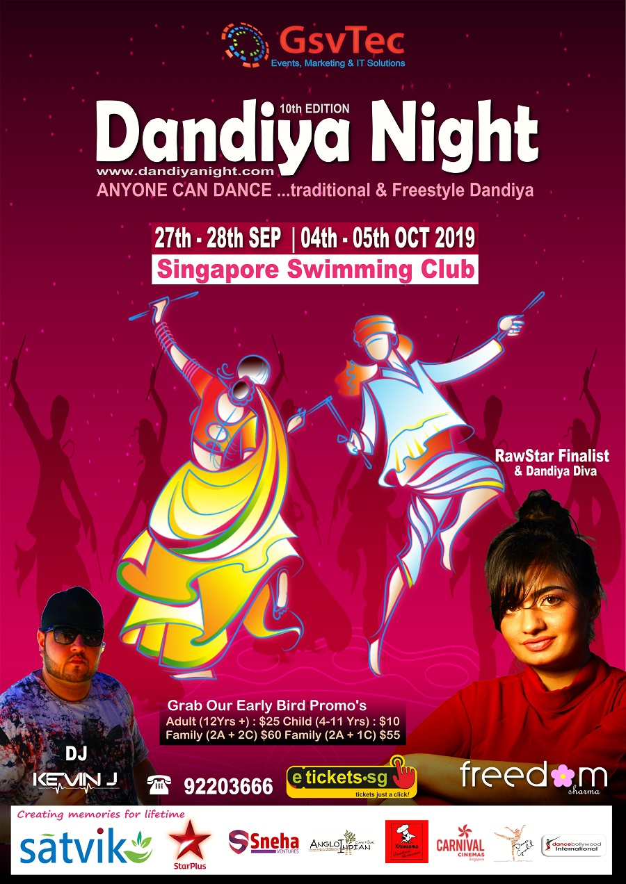 dandiya night 2019 at singapore swimming club
